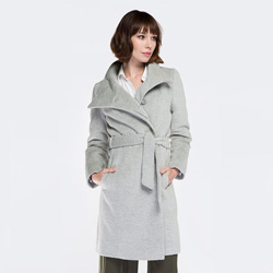 Women's coat, grey, 87-9W-102-8-L, Photo 1