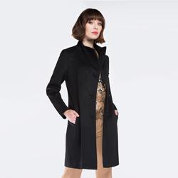 Płaszcz damski, czarny, 87-9W-103-1-2X, Zdjęcie 1