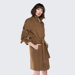Płaszcz damski, camelowy, 87-9W-105-5-S, Zdjęcie 1