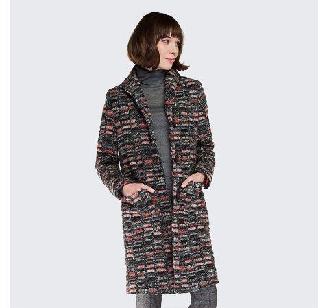 Płaszcz damski, multikolor, 87-9W-106-X-S, Zdjęcie 1