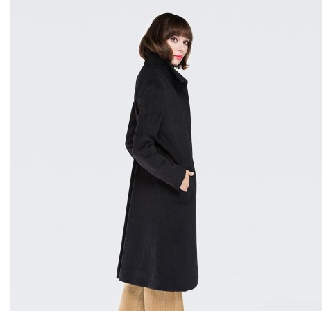 Płaszcz damski, czarny, 87-9W-110-1-S, Zdjęcie 1