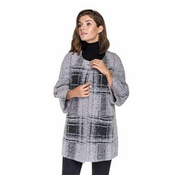 WOMEN'S COAT, grey-black, 89-9W-K01-P-S/M, Photo 1