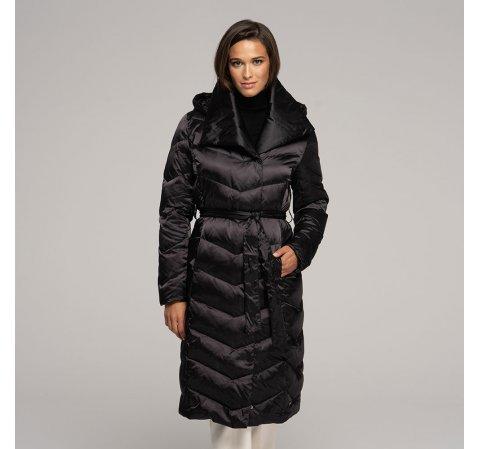 Женское пуховое пальто с капюшоном 91-9D-403-1