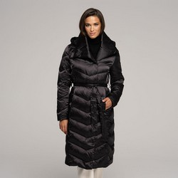 Women's hooded down coat, black, 91-9D-403-1-XL, Photo 1