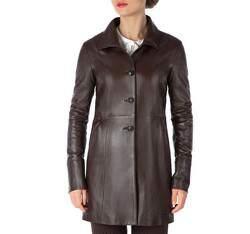 Płaszcz damski, ciemny brąz, 81-09-902-4-S, Zdjęcie 1