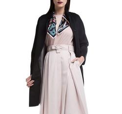 Płaszcz damski, czarny, 84-9W-107-1-2X, Zdjęcie 1