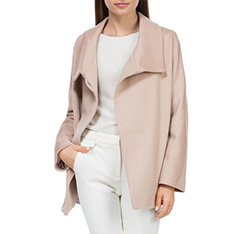 Płaszcz damski, kremowy, 84-9W-102-9-2X, Zdjęcie 1