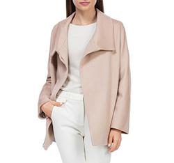 Płaszcz damski, kremowy, 84-9W-102-9-S, Zdjęcie 1