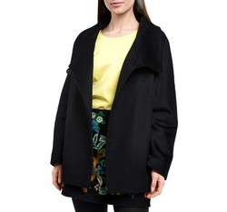 Women's coat, black, 84-9W-102-1-L, Photo 1