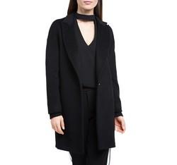Płaszcz damski, czarny, 84-9W-103-1-2X, Zdjęcie 1