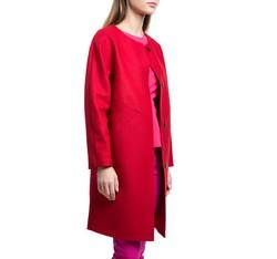 Płaszcz damski, czerwony, 84-9W-106-3-2X, Zdjęcie 1