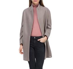 Płaszcz damski, zgaszony fiolet, 84-9W-103-8-2X, Zdjęcie 1