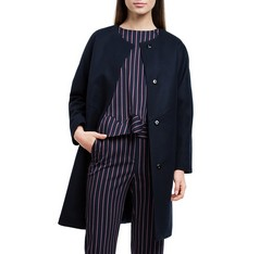Women's coat, navy blue, 84-9W-106-7-S, Photo 1