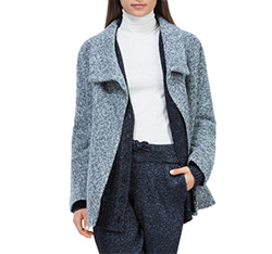 Women's coat, grey, 84-9W-104-8-L, Photo 1