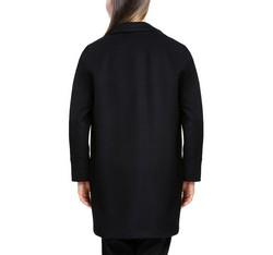 Płaszcz damski, czarny, 84-9W-103-1-XL, Zdjęcie 1