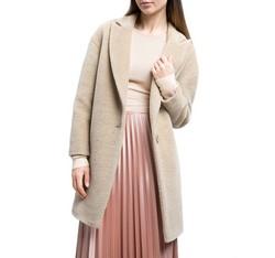 Płaszcz damski, beżowy, 84-9W-103-9-L, Zdjęcie 1