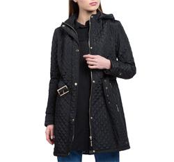 Płaszcz damski, czarny, 84-9N-109-1-S, Zdjęcie 1