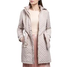 Płaszcz damski, beżowy, 84-9N-109-9-M, Zdjęcie 1