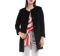 Płaszcz damski, czarny, 84-9W-101-1-2X, Zdjęcie 1
