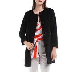 Płaszcz damski, czarny, 84-9W-101-1-L, Zdjęcie 1