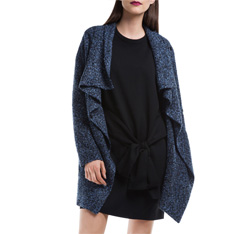 Women's coat, navy blue, 84-9W-105-7-XL, Photo 1