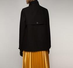 Płaszcz damski, czarny, 85-9W-101-1-M, Zdjęcie 1