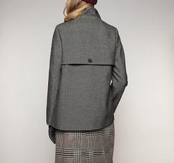 Płaszcz damski, czarno - biały, 85-9W-101-W-XL, Zdjęcie 1