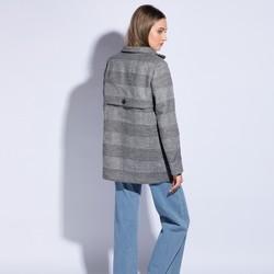 Płaszcz damski, szary, 85-9W-102-1-XL, Zdjęcie 1