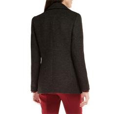 Płaszcz damski, czarno - szary, 85-9W-104-8-2X, Zdjęcie 1