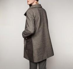 Płaszcz damski, brązowy, 85-9W-110-4-L, Zdjęcie 1