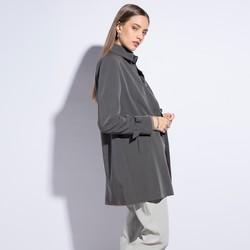 Płaszcz damski, szary, 86-9W-100-8-XL, Zdjęcie 1