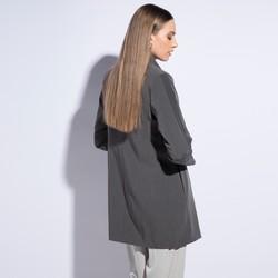 Płaszcz damski, szary, 86-9W-101-8-L, Zdjęcie 1