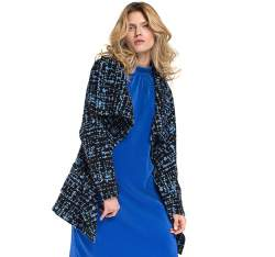 Płaszcz damski, granatowo - niebieski, 86-9W-106-N-S, Zdjęcie 1