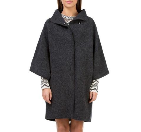 Płaszcz damski, czarny, 83-9W-100-P-S_M, Zdjęcie 1