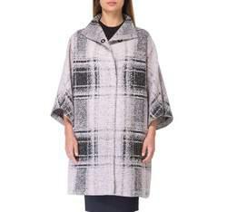 Płaszcz damski, różowo - czarny, 83-9W-100-P-L_XL, Zdjęcie 1