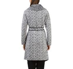 Płaszcz damski, biało - czarny, 83-9W-101-P-L, Zdjęcie 1
