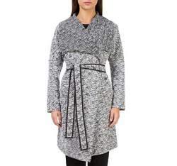 Płaszcz damski, biało - czarny, 83-9W-101-P-S, Zdjęcie 1