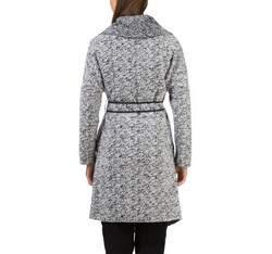 Płaszcz damski, biało - czarny, 83-9W-101-P-XL, Zdjęcie 1