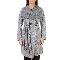 Women's coat, white-black, 83-9W-101-P-XL, Photo 1