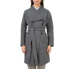 Płaszcz damski, szary, 83-9W-102-8-2X, Zdjęcie 1