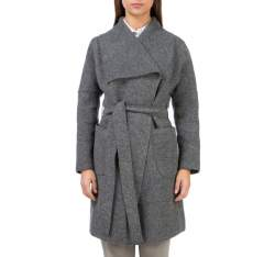 Women's coat, grey, 83-9W-102-8-L, Photo 1