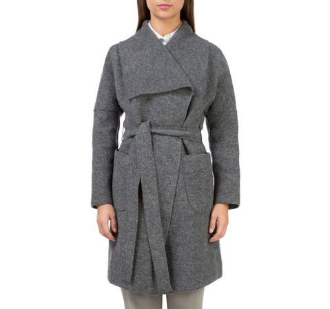 Płaszcz damski, szary, 83-9W-102-8-XL, Zdjęcie 1