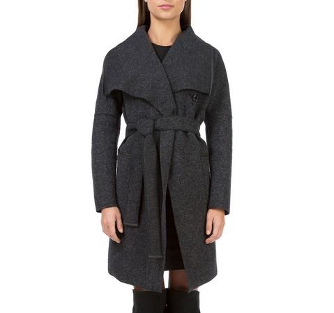 Płaszcz damski, czarny, 83-9W-103-8-XL, Zdjęcie 1