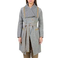 Płaszcz damski, szary, 83-9W-103-8-2X, Zdjęcie 1