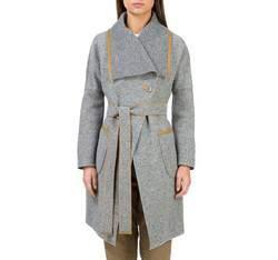 Płaszcz damski, szary, 83-9W-103-8-S, Zdjęcie 1