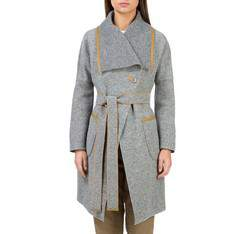 Women's coat, grey, 83-9W-103-8-XL, Photo 1