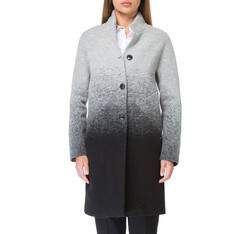 Płaszcz damski, szaro - czarny, 83-9W-105-1-M, Zdjęcie 1