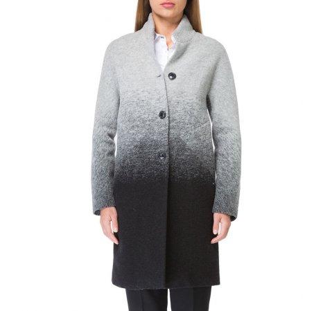 Płaszcz damski, szaro - czarny, 83-9W-105-8L-2X, Zdjęcie 1