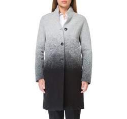 Płaszcz damski, szaro - czarny, 83-9W-105-1-XL, Zdjęcie 1