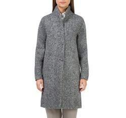 Płaszcz damski, szary, 83-9W-105-8-2X, Zdjęcie 1